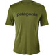 Patagonia Capilene Daily Graphic T-Shirt Men Text Logo: Sprouted Green X-Dye